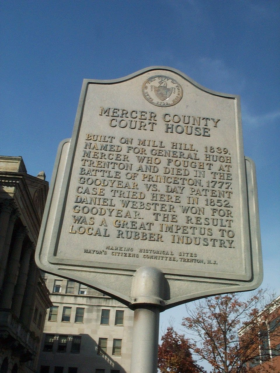 Mercer County Courthouse Marker