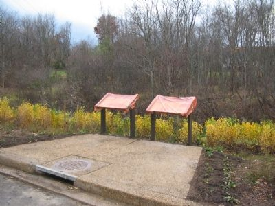 Two Markers Awaiting their Unveiling in Upperville image. Click for full size.