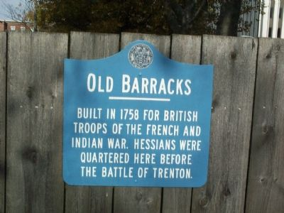 Old Barracks Marker image. Click for full size.