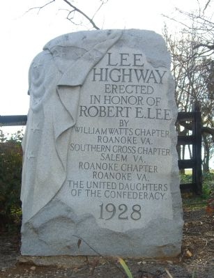 Lee Highway Marker image. Click for full size.