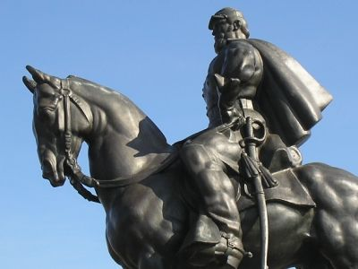Closeup of Jackson equestrian monument image. Click for full size.