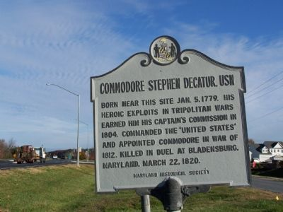 Commodore Stephen Decatur, USN Marker image. Click for full size.