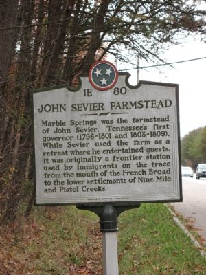 John Sevier Farmstead Marker image. Click for full size.