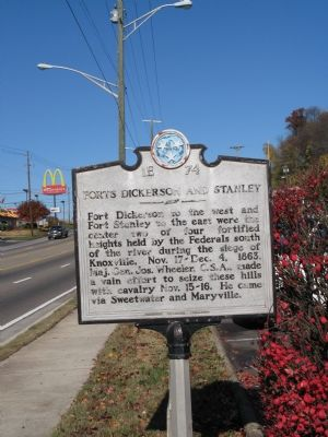 Forts Dickerson and Stanley Marker image. Click for full size.