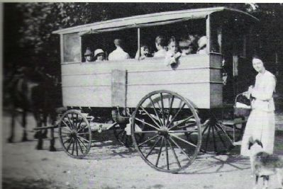 Early Day School Hack, Predecessor to the Modern School Bus. image. Click for full size.