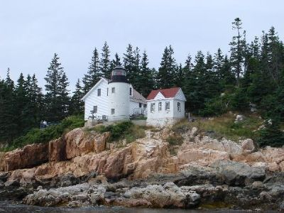 Ocean View of Bass Harbor Head Light image. Click for full size.