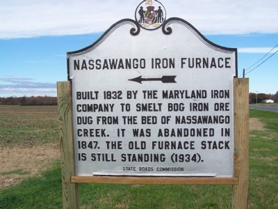 Nassawango Iron Furnace Marker image. Click for full size.