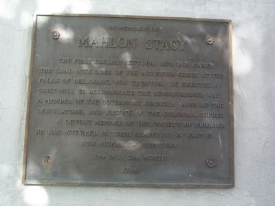 Mahlon Stacy Marker image. Click for full size.