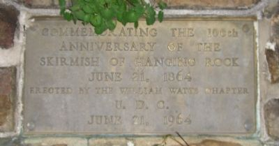 Hanging Rock Commemoration Marker image. Click for full size.