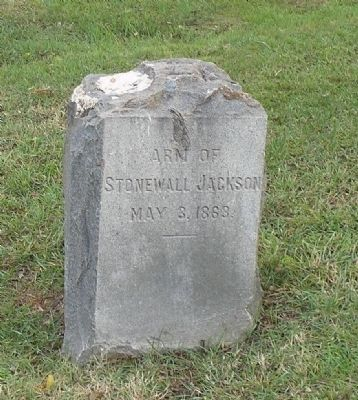 """Stonewall"" Jackson's arm image. Click for full size."