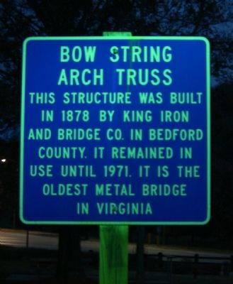 Bow String Arch Truss Marker image. Click for full size.