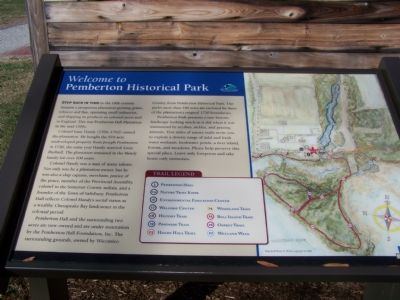 Welcome to Pemberton Historical Park Marker image. Click for full size.