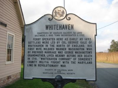 Whitehaven Marker image. Click for full size.