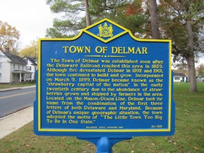 Town of Delmar Marker image. Click for full size.
