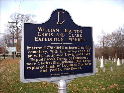 Lewis and Clark Expedition Member - William Bratton Marker image. Click for full size.