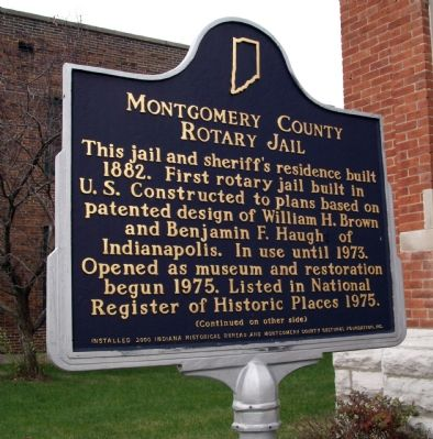 Montgomery County Rotary Jail Marker image. Click for full size.