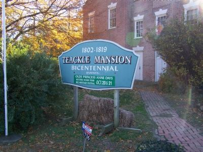 Teackle Mansion Sign image. Click for full size.