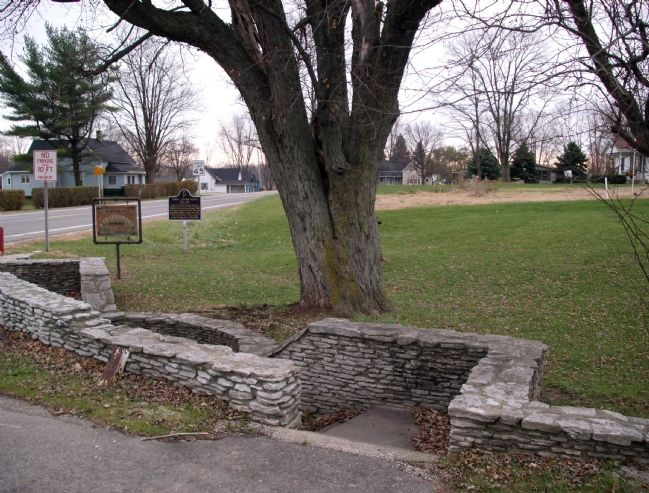 Historic Parkersburg Spring and Chief Cornstalk's Village Marker image. Click for full size.
