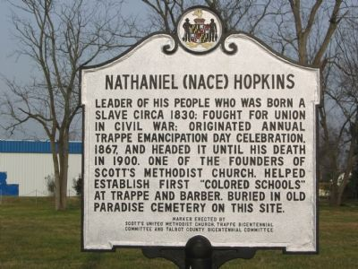 Nathaniel (Nace) Hopkins Marker image. Click for full size.