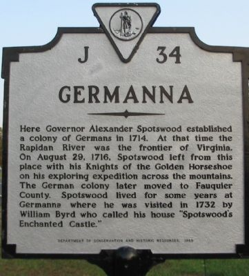 Germanna Marker image. Click for full size.