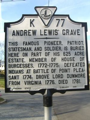 Andrew Lewis' Grave Marker image. Click for full size.