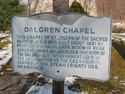 Earlier Sign for the Dahlgren Chapel image. Click for full size.