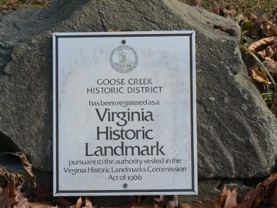 Goose Creek Historic District Marker image. Click for full size.