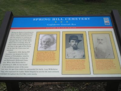 Spring Hill Cemetery - Confederate Generals Rest Civil War Trails marker image. Click for full size.