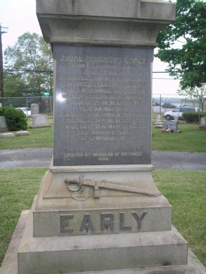 Closeup of Early's grave image. Click for full size.