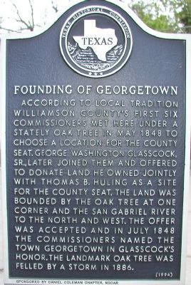 Founding of Georgetown Marker image. Click for full size.