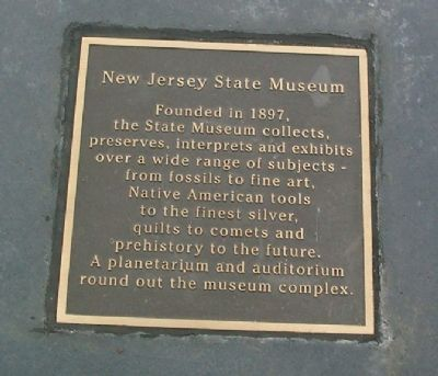 Warren Street Plaza - New Jersey State Museum Marker image. Click for full size.
