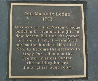 Warren Street Plaza - Old Masonic Lodge Marker image. Click for more information.