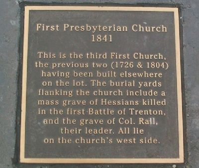Warren Street Plaza - First Presbyterian Church Marker image. Click for more information.