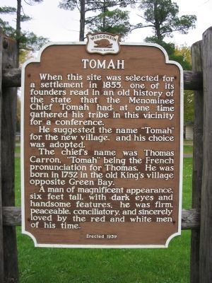 Tomah Marker image. Click for full size.