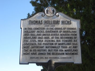 Thomas Holliday Hicks Marker image. Click for full size.
