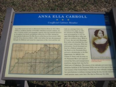 Anna Ella Carroll Marker image. Click for full size.