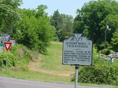 Jackson's March to Fredericksburg Marker image. Click for full size.