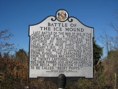 Battle of the Ice Mound Marker image. Click for full size.