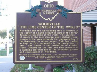 "Woodville ""The Lime Center of the World"" Marker image. Click for full size."