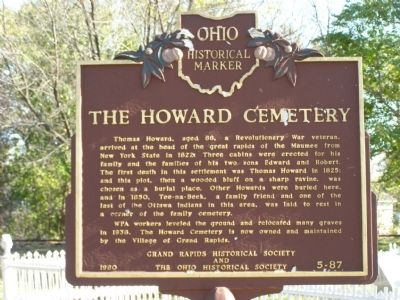 The Howard Cemetery Marker image. Click for full size.
