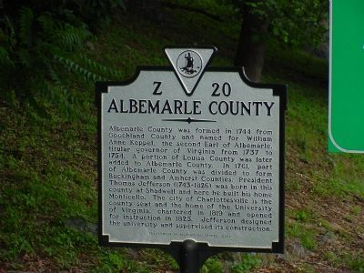 Albemarle County Face of Marker image, Touch for more information