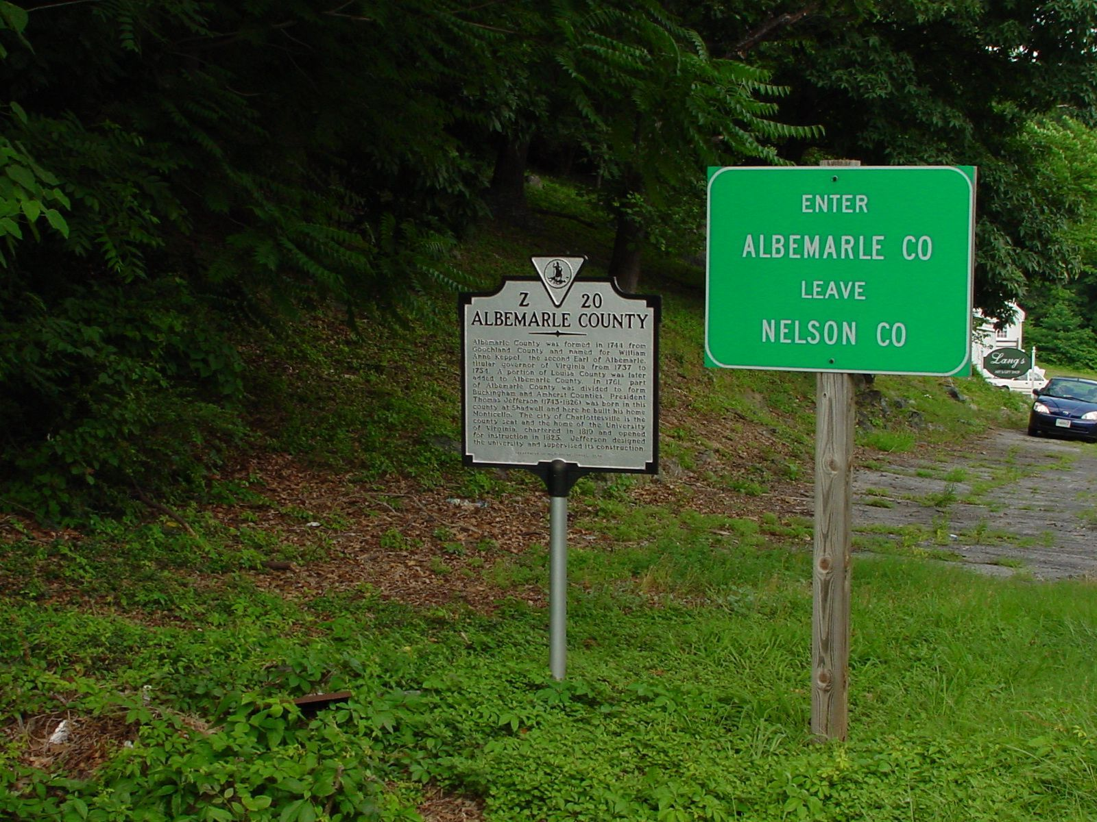 Nelson County / Albemarle County Marker