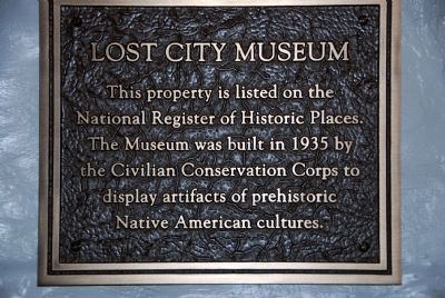 Lost City Museum Marker image. Click for full size.