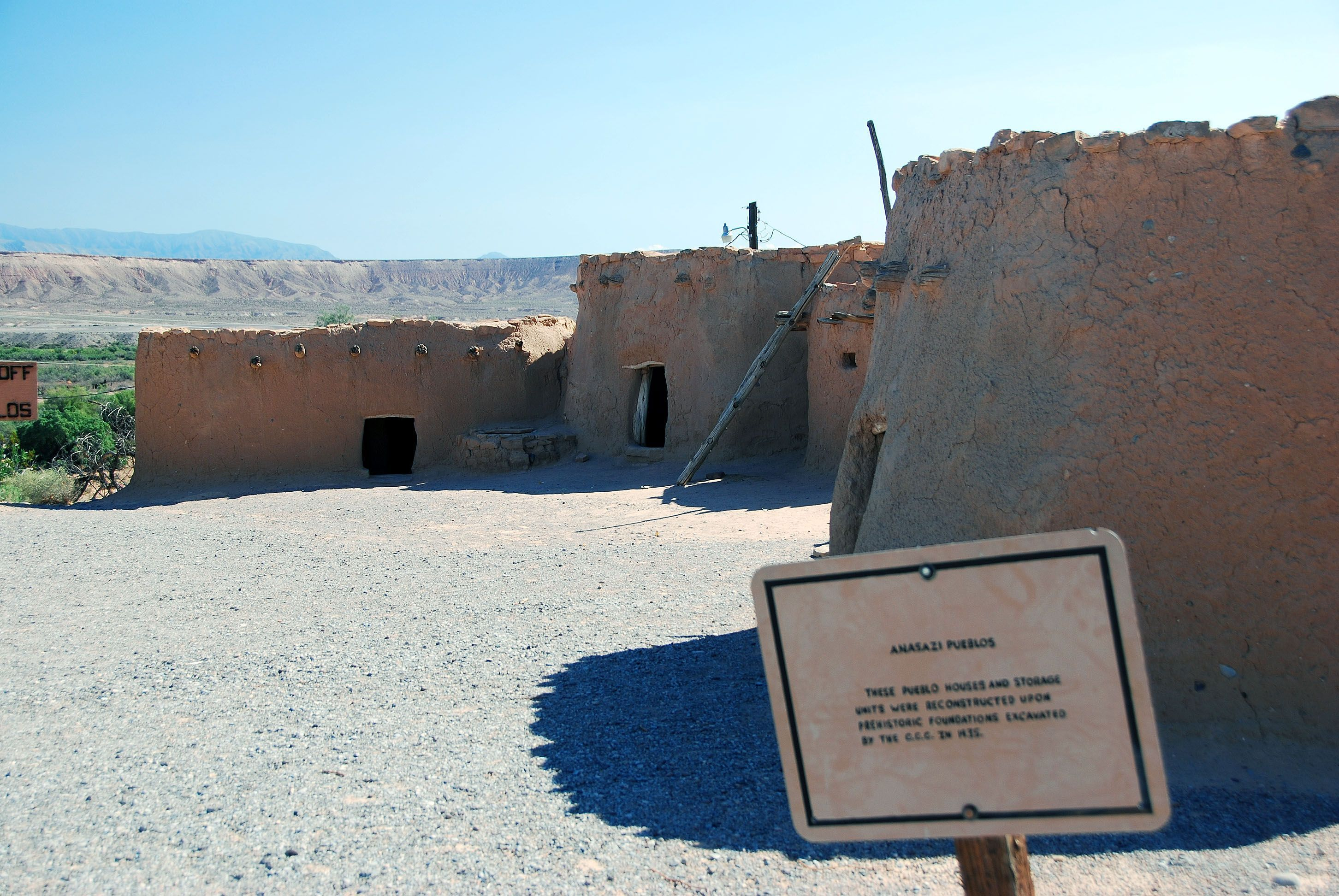 Anasazi Pueblos (located behind museum)