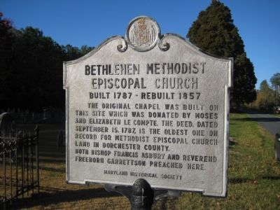 Bethlehem Methodist Episcopal Church Marker image. Click for full size.