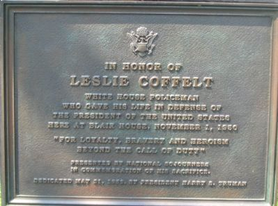In Honor of Leslie Coffelt Marker image. Click for full size.
