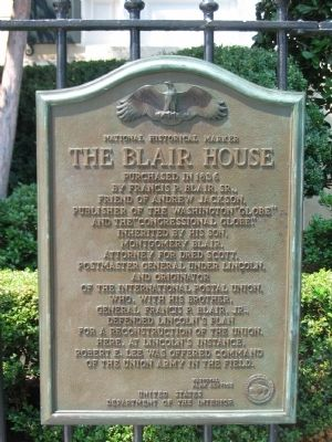 The Blair House Marker image. Click for full size.