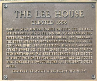 The Lee House Marker image. Click for full size.