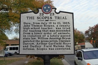 The Scopes Trial - Looking North image. Click for full size.