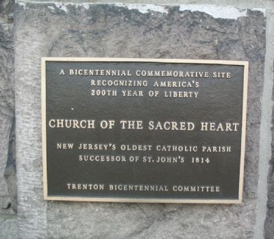 Church of the Sacred Heart Marker image. Click for full size.